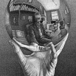 Mano con globo riflettente 1935