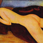 Nu couche de dos -  1917 - Olio su tela