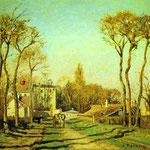 L'ingresso al Villaggio di Voisins - 1872 - Olio su tela