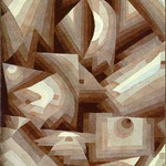 Crystal Gradation. 1921. Watercolor. 24.5 x 31.5 cm. Kunstmuseum Basel, Basel, Switzerland.