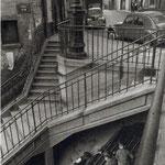 Carrefour rue Vilin - rue Piat, Belleville, 1959