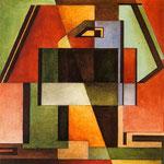 Triplice R.S., 1939-1940, olio su tela, cm 28 x 28.