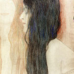 Girl with Long Hair, with a sketch for -Nude Veritas-