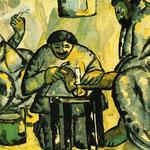 Kazimir Malevich - Pedicure nei bagni (1911)