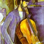 Studio per il violoncellista - 1909 - Olio su tela