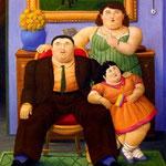 Fernando Botero - Famiglia colombiana (1999)