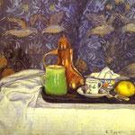 Natura morta con una caffettiera (Still Life, caffettiera) - 1900 - Olio su tela