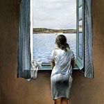 Figura a una finestra - 1925 - Olio su tela