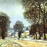 Snow at Louveciennes, 1874