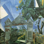 Porta del cimitero - 1917 - Olio su tela