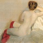 Nudo con le Calze Rosse, 1879