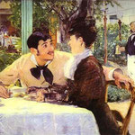 Edouard Manet - A Lathuille Père's - 1879 - Olio su tela