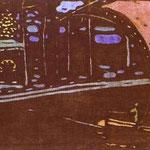 La Vela d'Oro - 1903 - xilografia a colori
