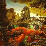 La tentazione di Sant'Antonio - 1945 - Olio su tela