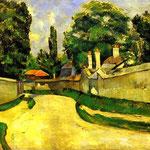Case sul ciglio della strada - 1881 -  Olio su tela