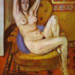 Nudo su un cuscino blu - 1924 - Olio su tela