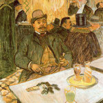 El senor Boileau en el cafe
