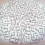 Piet Mondrian - Composizione n. 10 (Pier e Ocean) - Olio su tela