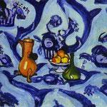 Tovaglia Blue  - 1909 - Olio su tela