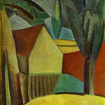 Casa in un giardino - 1908 - Olio