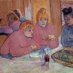 Le prostitute: Intorno a un tavolo da pranzo - 1893/1894 - Olio su tela