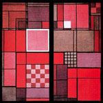 Vidriera multicolor en la antesala del director Gropius en la Bauhaus de Weimar