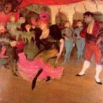 Mademoiselle Marcelle Lender dansant dans Chilperic
