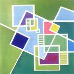 P.R.O.G. - P.R.I.M., 1970, olio su tela, cm 51 x 51,5.