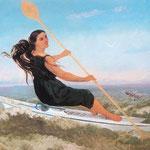 Donna in un podoscafo - 1865