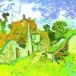 Strada del villaggio a Auvers - 1890 - Olio su tela