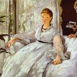 Edouard Manet - La lettura - 1869 - Olio su tela