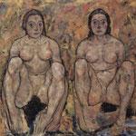 Donne nude sedute - 1918