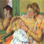 Mother Combing her Child's Hair, 1879