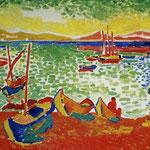 Barche nel porto a Collioure - 1905