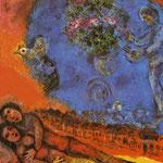 Coppia su uno sfondo rosso - 1983 - Olio su tela