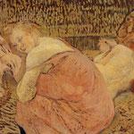 Due amiche - 1894/1895 - Olio su cartone su legno