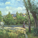 Sunlight on the Road - Pontoise, 1874