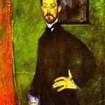 Ritratto di Paul Alexandre su sfondo verde - 1909 - Olio su tela