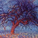 Piet Mondrian - L'albero rosso - 1909 - Olio su tela