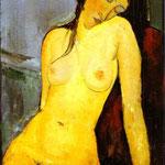 Nudo seduto - 1916 - Olio su tela