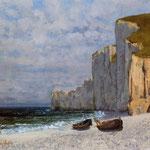 Baia con scogliera - 1869