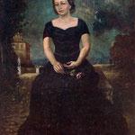 Retrato de Isa con rosa en el parque