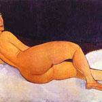 Nudo Guardando sopra la sua spalla destra - 1917 - Olio su tela