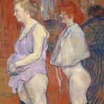 Rue de Moulins: Il controllo medico - 1894 - Olio su cartone e legno