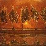 Piet Mondrian - Alberi di Gein al sorgere della luna - 1907/1908 - Olio su tela