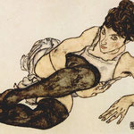 Donna con calze verdi - 1917