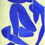 Nudo Blue - 1952 - Guazzo su carta ritagliata