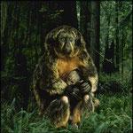 Mère singe, image composée par ordinateur pour -Le Bestiaire d'Horvat-, 1994