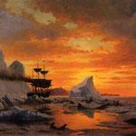 Icebound Ship