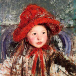 Little Girl in a Large Red Hat, 1881